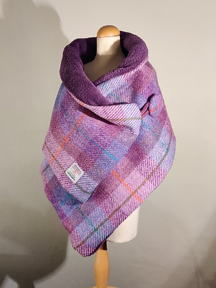 Harris Tweed Scarf in Lilac and Purple