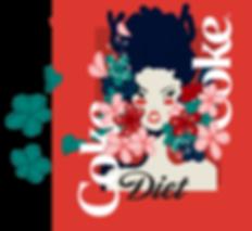 diet coke can flower girl illustration.p