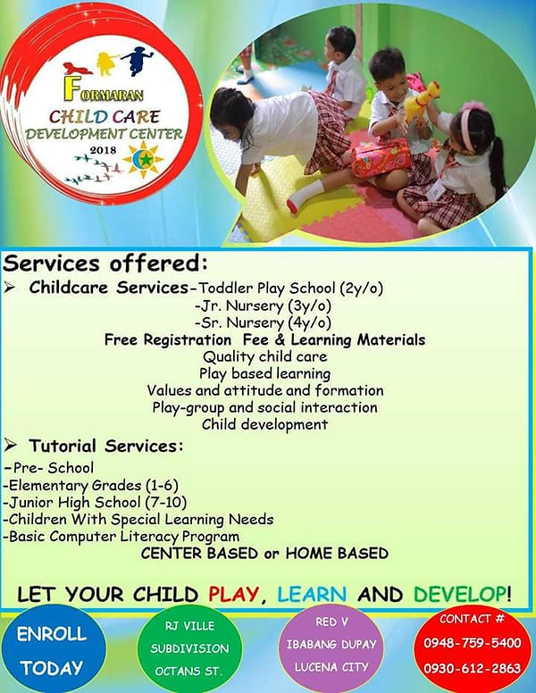 Formaran Child Care Development Center I