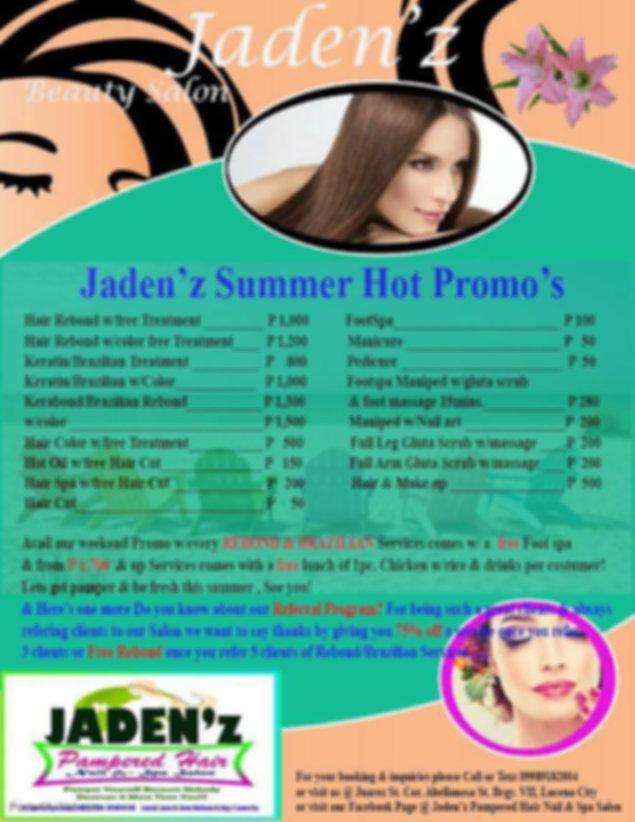 Jaden'z Pamperred Hair, Nail and Spa Ima