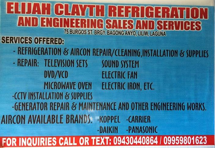 Elijah Clayth Refrigeration and Engineer