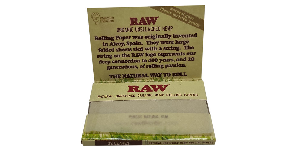 RAW organic unbleached hemp נייר גלגול