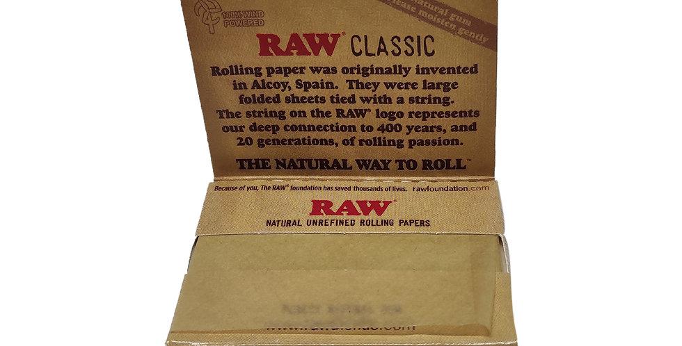 RAW organic unrefined hemp ניירות גלגול