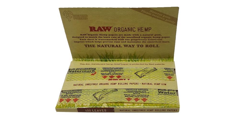 raw organic hemp נייר גלגול בינוני 100 דפים