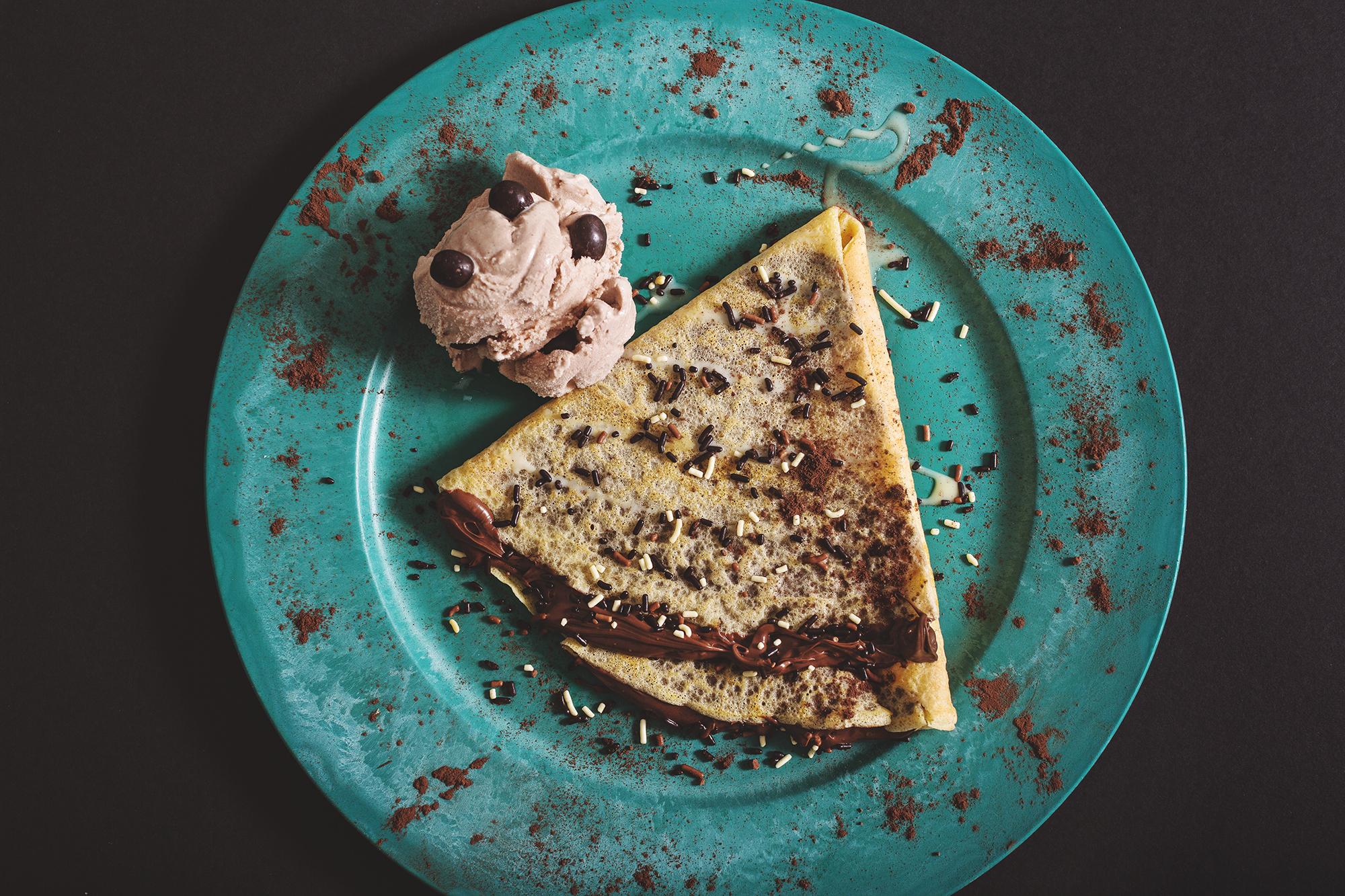 Crepa de Nutella con Helado Valachi