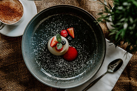 Prosecco Panna cotta with wild berries a