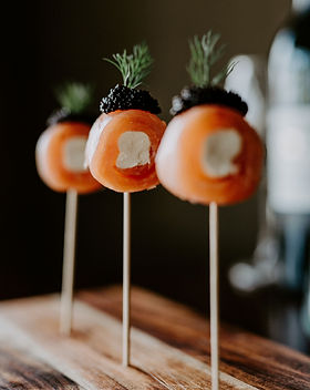 Smoked salmon, chive cream cheese and ca