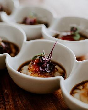 Caramelised scallop, cauliflower puree,
