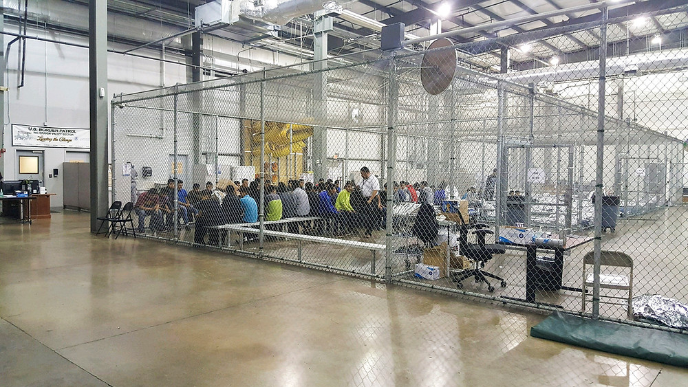 A government issued handout image of the US Border Patrol Central Processing Center in McAllen, Texas, on June 17, 201
