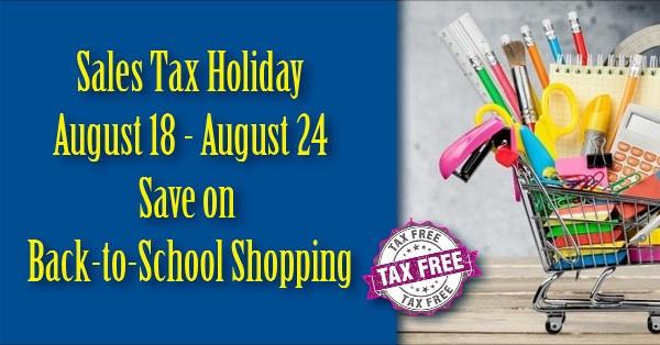 REMINDER: Tax Free Week August 18-24