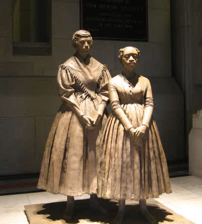 Prudence Crandall and Sarah Harris