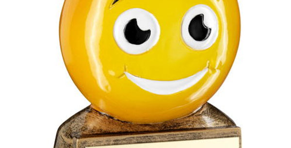 'SMILING EMOJI' FIGURE TROPHY -       2.75in