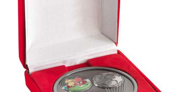 DELUXE RED MEDAL BOX - (50/60/70MM RECESS) 3.5in