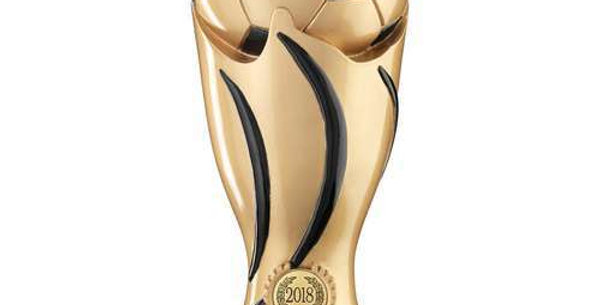 GOLD/BLACK FOOTBALL SWIRL COLUMN TROPHY (1in CENTRE) - PARENTS PLAYER - 11in