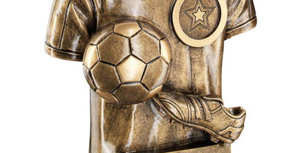 FOOTBALL TROPHY SHIRT WITH BOOT/BALL TROPHY