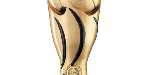 GOLD/BLACK FOOTBALL SWIRL COLUMN TROPHY MOST IMPROVED - 11in
