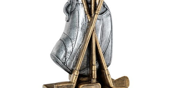 GOLF BAG WITH CLUBS TROPHY - 5.75in
