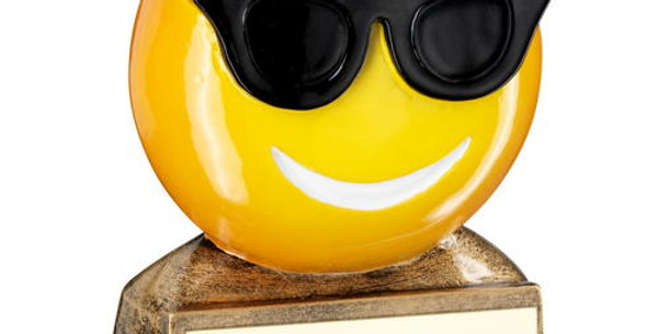 SUNGLASSES EMOJI FIGURE TROPHY - 2.75in