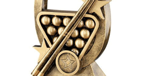 POOL/SNOOKER OVAL/STARS SERIES TROPHY