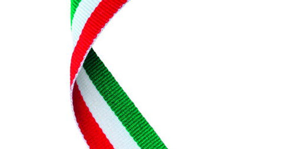 MEDAL RIBBON GREEN/WHITE/RED - 30 X 0.875in