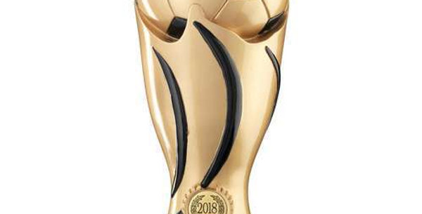 GOLD/BLACK FOOTBALL SWIRL COLUMN TROPHY (1in CENTRE) - MANAGERS PLAYER - 11in