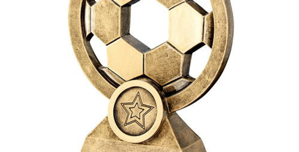 FOOTBALL WITH HOLES TROPHY