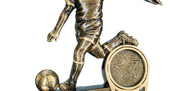 BRZ/GOLD MINI MALE FOOTBALL FIGURE TROPHY