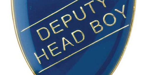 SCHOOL SHIELD BADGE (DEPUTY HEAD BOY) - BLUE  - GREEN - RED - YELLOW