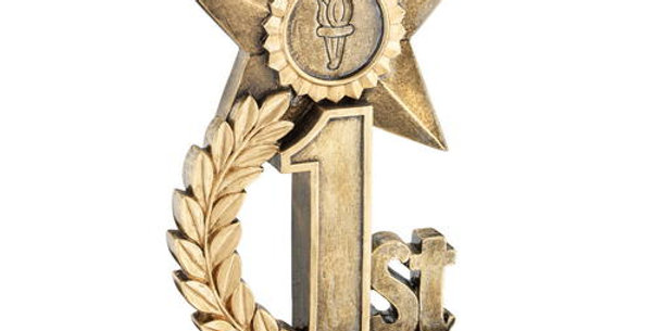STAR AWARD TROPHY-BRONZE 3RD-4.75in