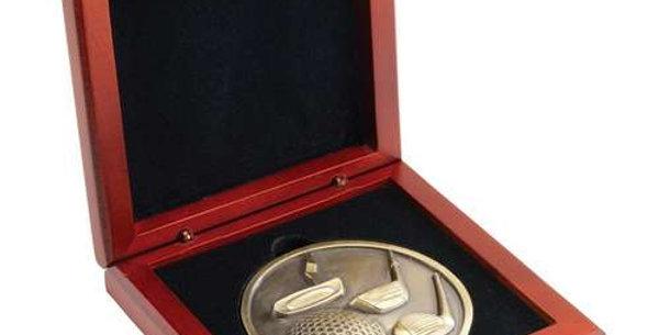ROSEWOOD MEDAL BOX - (70MM RECESS) 4.25in