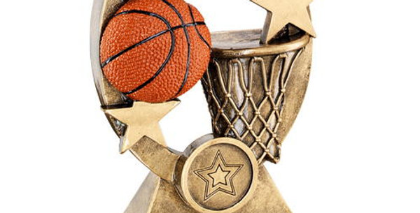 BASKETBALL OVAL/STARS SERIES TROPHY
