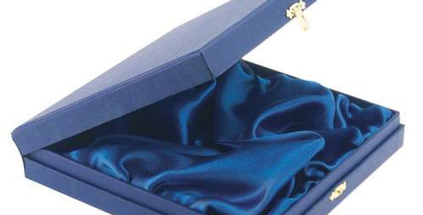 BLUE PRESENTATION BOX FOR SALVERS - FITS 4in SALVER