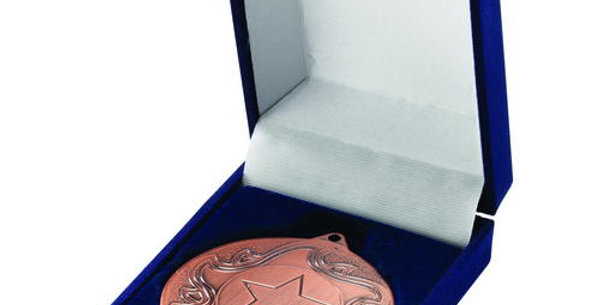 DELUXE BLUE MEDAL BOX - (40/50MM RECESS) 3in