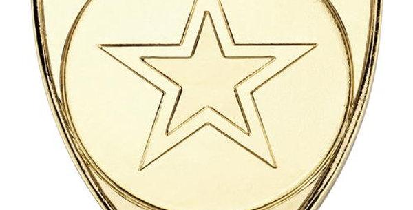 SHIELD BADGE (1in CENTRE) - GOLD - SILVER - BRONZE