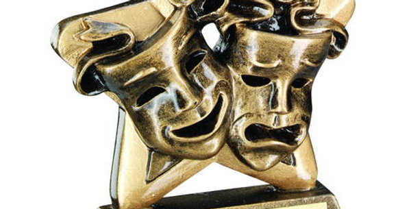 DRAMA MASKS MINI STAR TROPHY - 3.75in