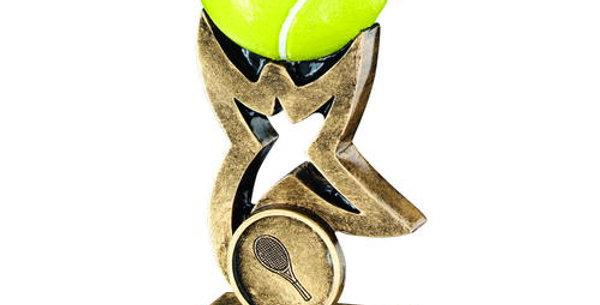 YELLOW TENNIS BALL ON STAR RISER TROPHY