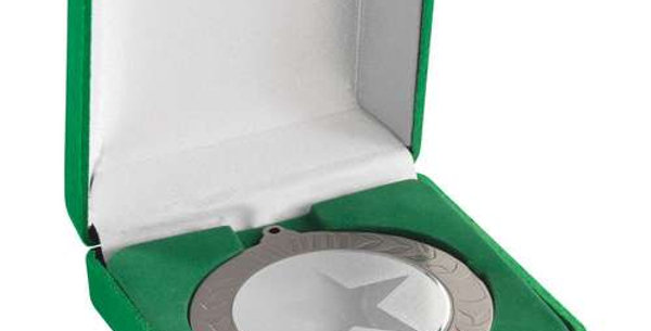 DELUXE GREEN MEDAL BOX - (50/60/70MM RECESS)  3.5in