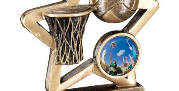 BRZ/GOLD NETBALL MINI STAR TROPHY