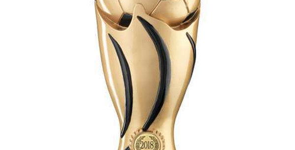 GOLD/BLACK FOOTBALL SWIRL COLUMN TROPHY PLAYERS PLAYER - 11in