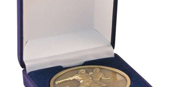 DELUXE BLUE MEDAL BOX - (50/60/70MM RECESS)     3.5in