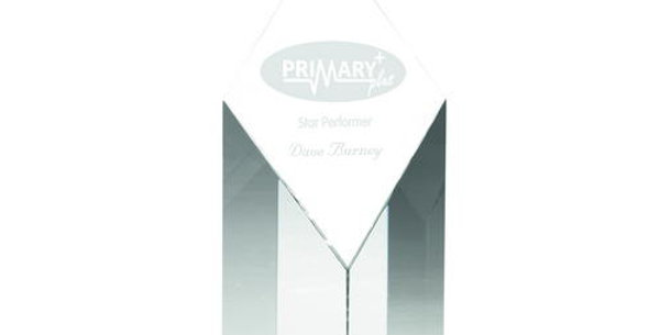CLEAR GLASS DIAMOND COLUMN