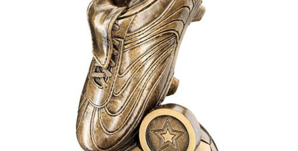FOOTBALL BOOT ON HALF BALL BASE TROPHY