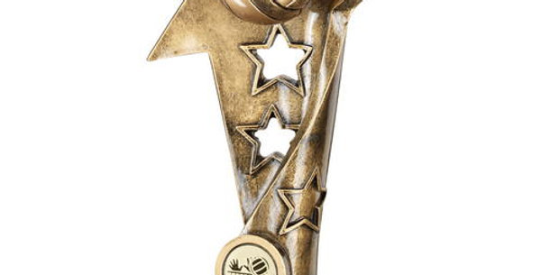 VOLLEYBALL TWISTED STAR COLUMN TROPHY