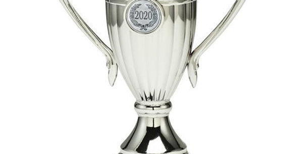 SILVER PLASTIC LINED CUP TROPHY