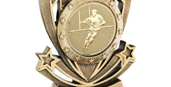 SHOOTING STAR SERIES WITH RUGBY INSERT TROPHY