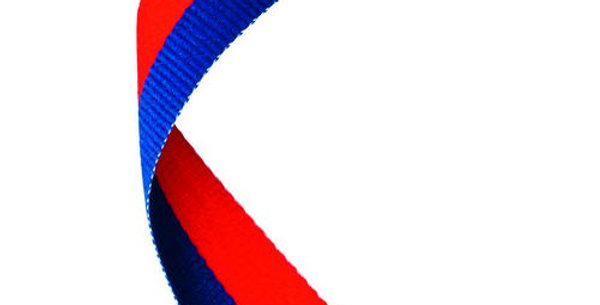 MEDAL RIBBON ROYAL BLUE/RED - 30 X 0.875in