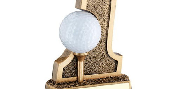 GOLF 'HOLE IN ONE' BALL HOLDER TROPHY - 6in