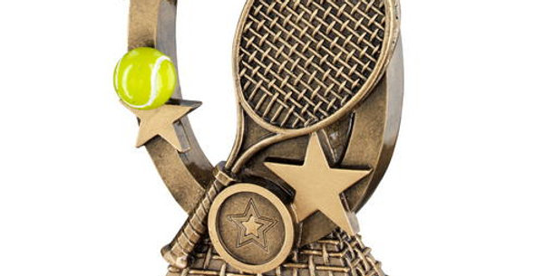 YELLOW TENNIS OVAL, STARS SERIES TROPHY