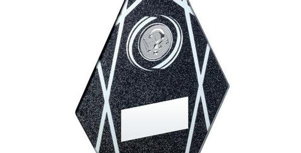 GLASS DIAMOND WITH QUIZ INSERT TROPHY