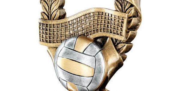 VOLLEYBALL 3 STAR WREATH AWARD TROPHY